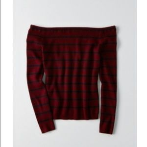 American Eagle Off The Shoulder Ribbed Sweater